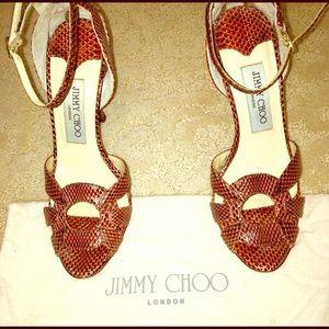 Size 36 Jimmy Choo snakeskin leather sandal